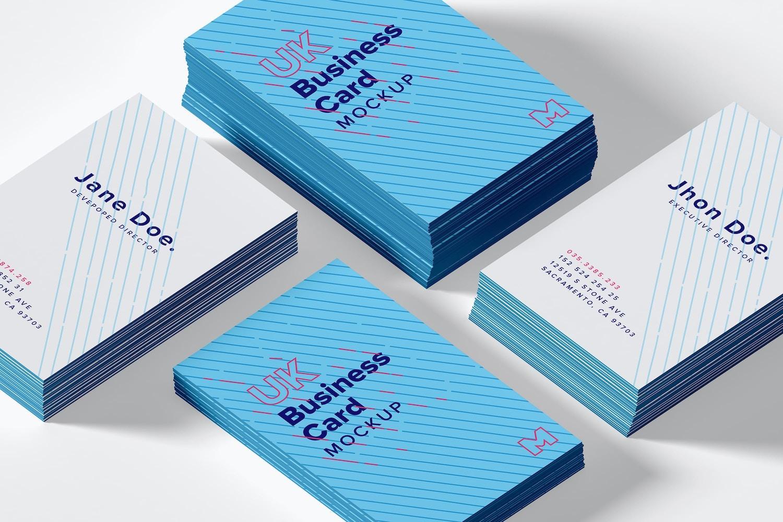 UK Business Cards Mockup 07