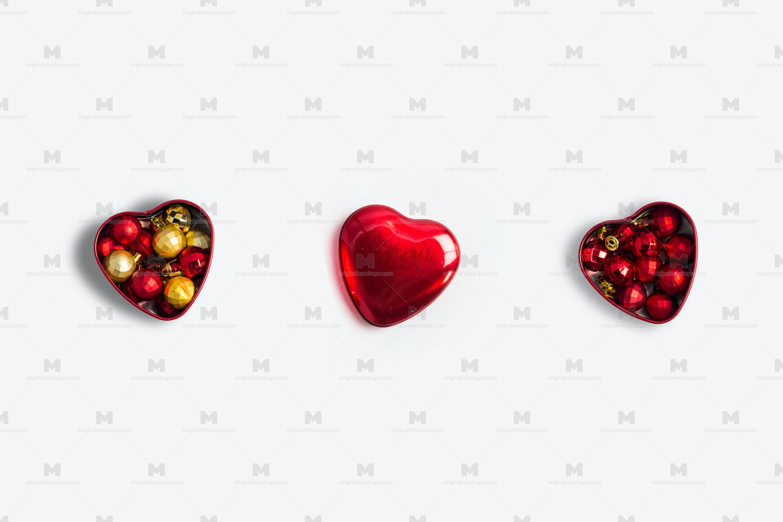 Christmas Hearts Isolate