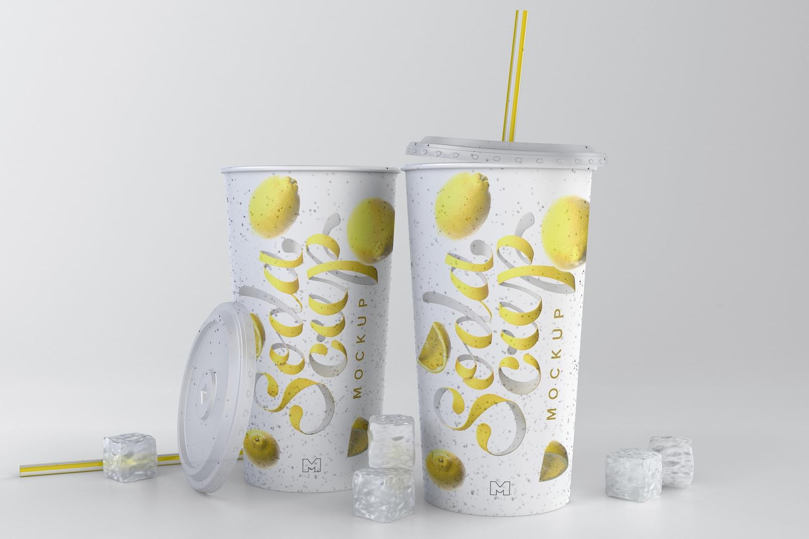Soda Cup Mockup 03