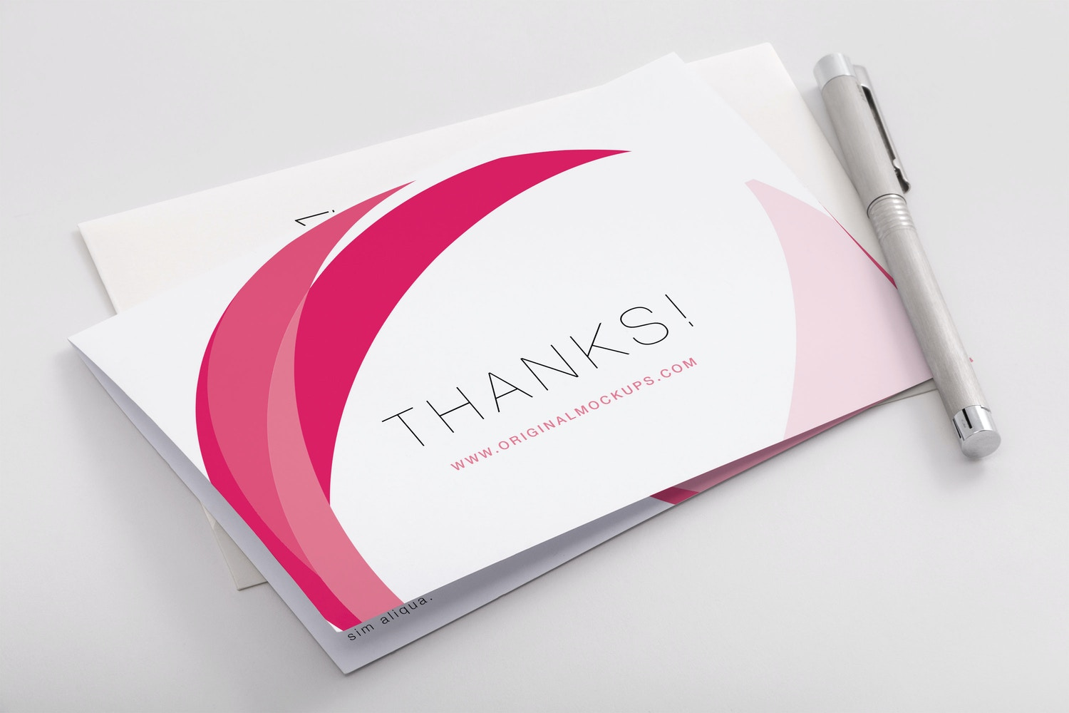 Bifold Thank You Card PSD Mockup 02 by Original Mockups on Original Mockups