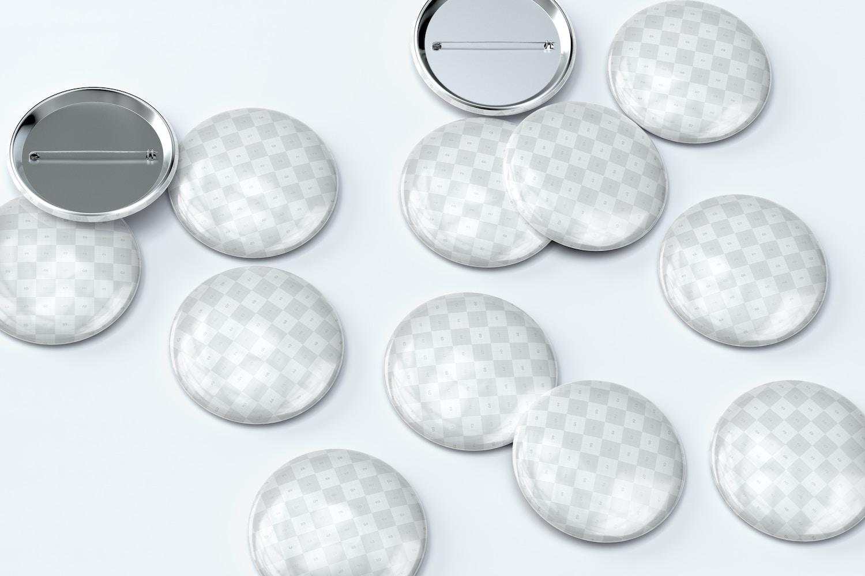 32mm Pin Button Badges Mockup Set