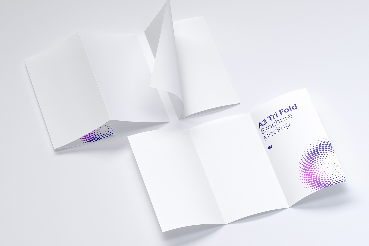 A3 Trifold Brochure Mockup 03 by Original Mockups on Original Mockups