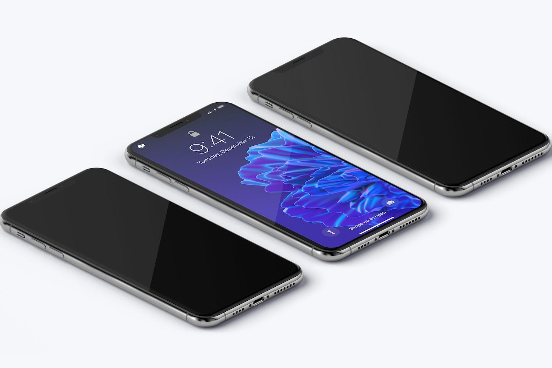 Maqueta de iPhone XS Max, Isométrico Vista Izquierda