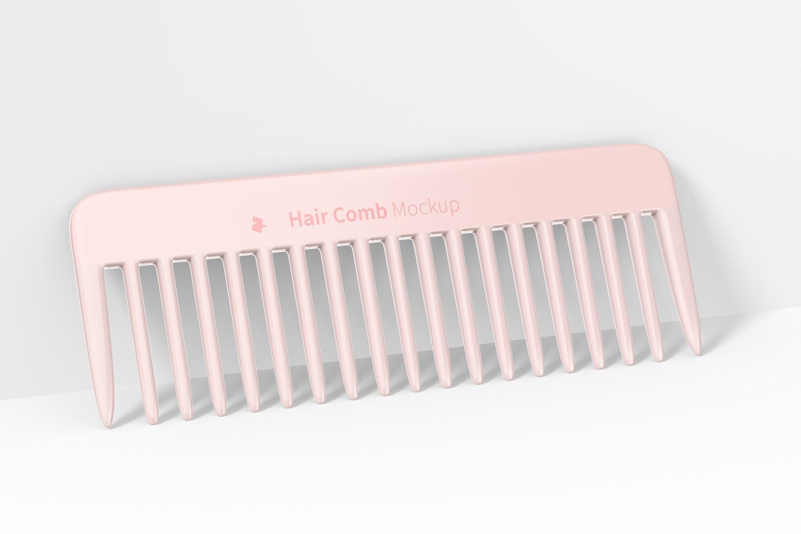 Hair Comb Mockup, Leaned