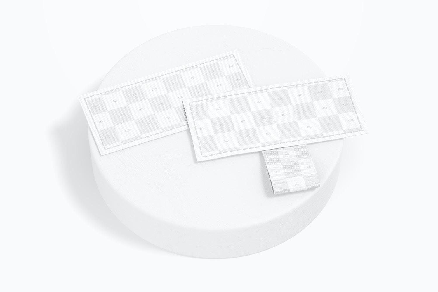 Rectangular Sewn-In Labels on Surface Mockup