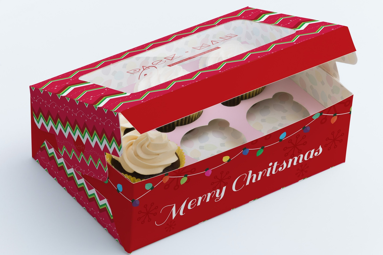 Six Cupcake Box Mockup 02