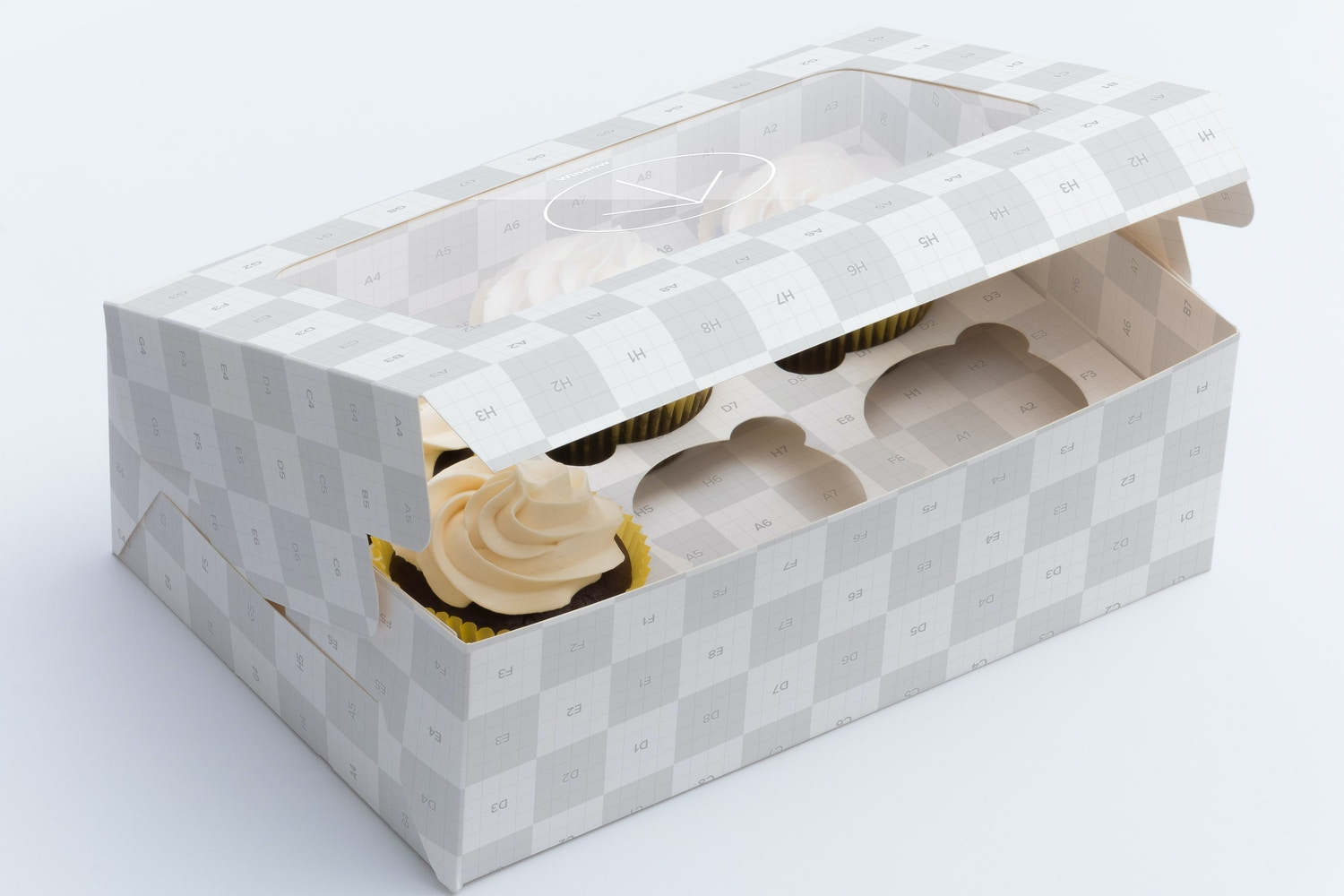 Six Cupcake Box Mockup 02 by Ktyellow  on Original Mockups