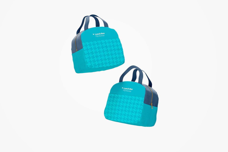 Lunch Bag with Front Pocket Mockup, Floating