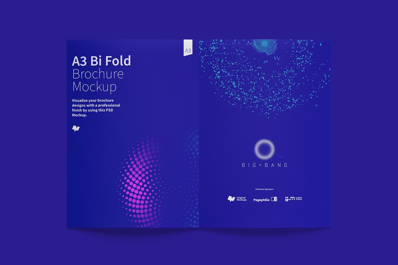 A3 Bi Fold Brochure Mockup 02 (6) by Original Mockups on Original Mockups