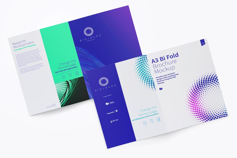 A3 Bi Fold Brochure Mockup 02 (3) by Original Mockups on Original Mockups