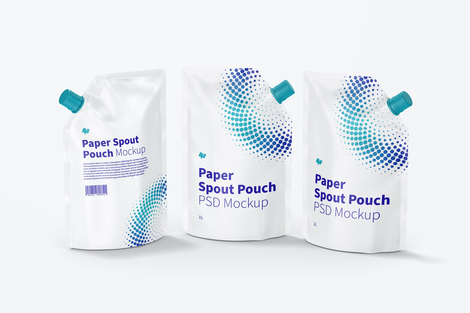 1 Liter Paper Spout Pouches Mockup