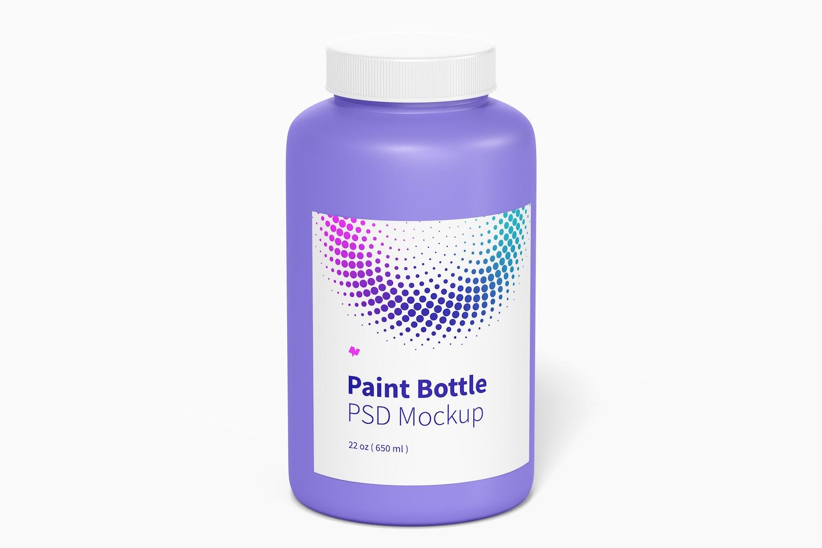 22 oz Paint Bottle Mockup