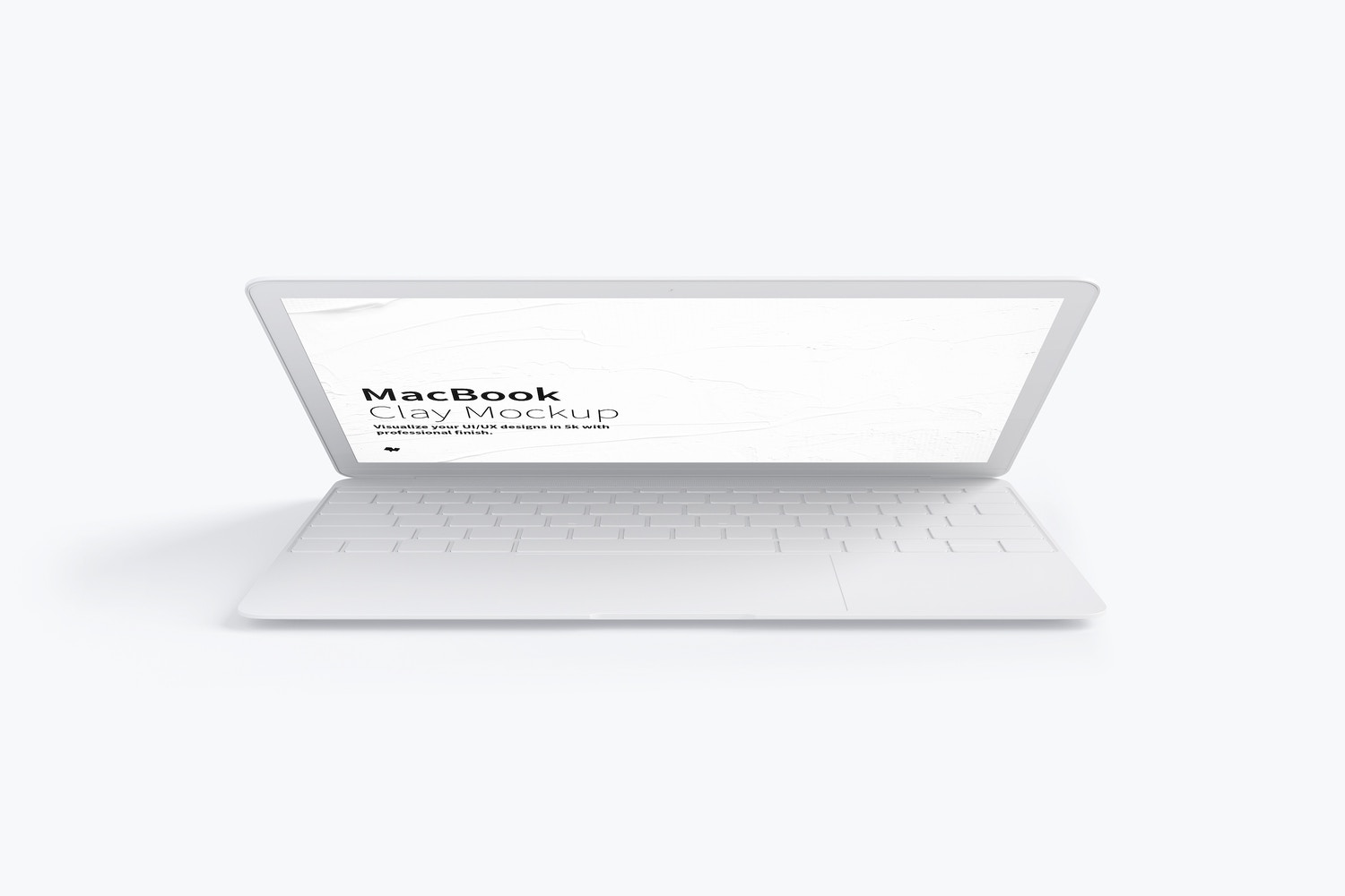 Clay MacBook Mockup, Front View 02 by Original Mockups on Original Mockups