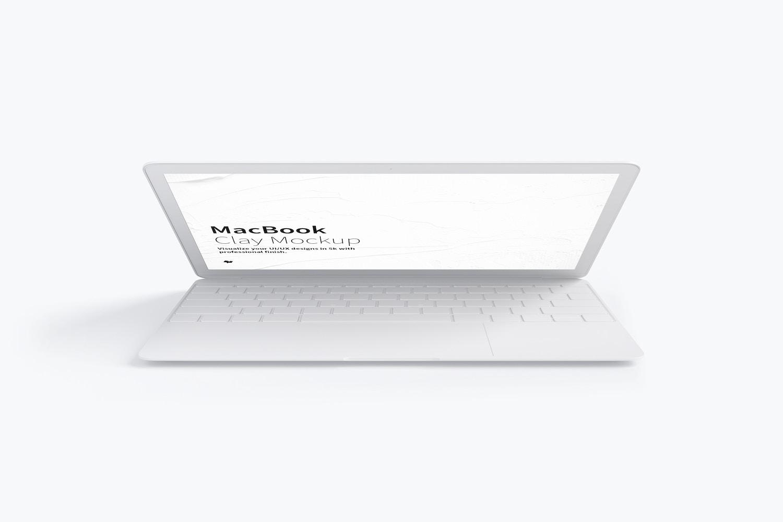 Maqueta de MacBook Multicolor, Vista Frontal 02