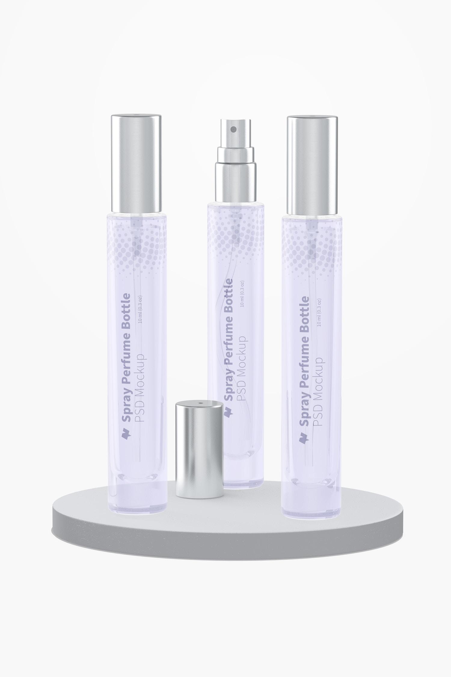 10 ml Spray Perfume Bottle Set Mockup
