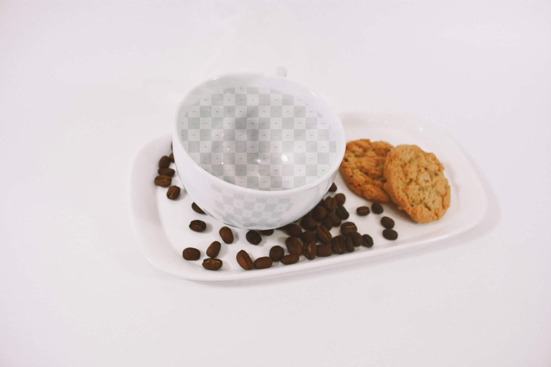 Latte Coffee Art Mockup (2) by Eduardo Mejia on Original Mockups