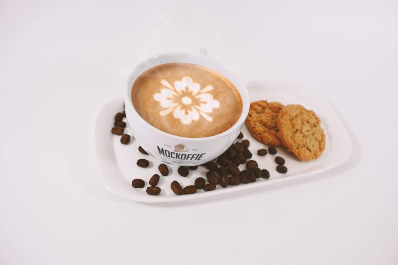 Latte Coffee Art Mockup