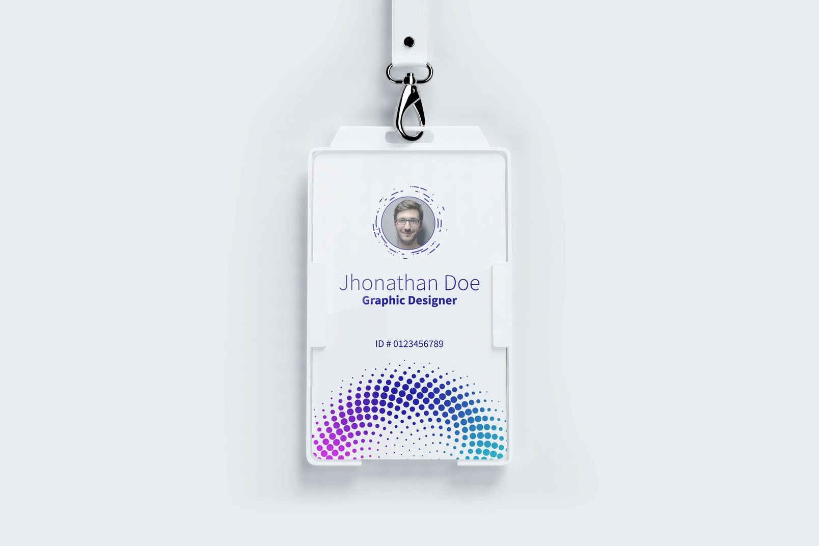 Vertical ID Card Mockup 01