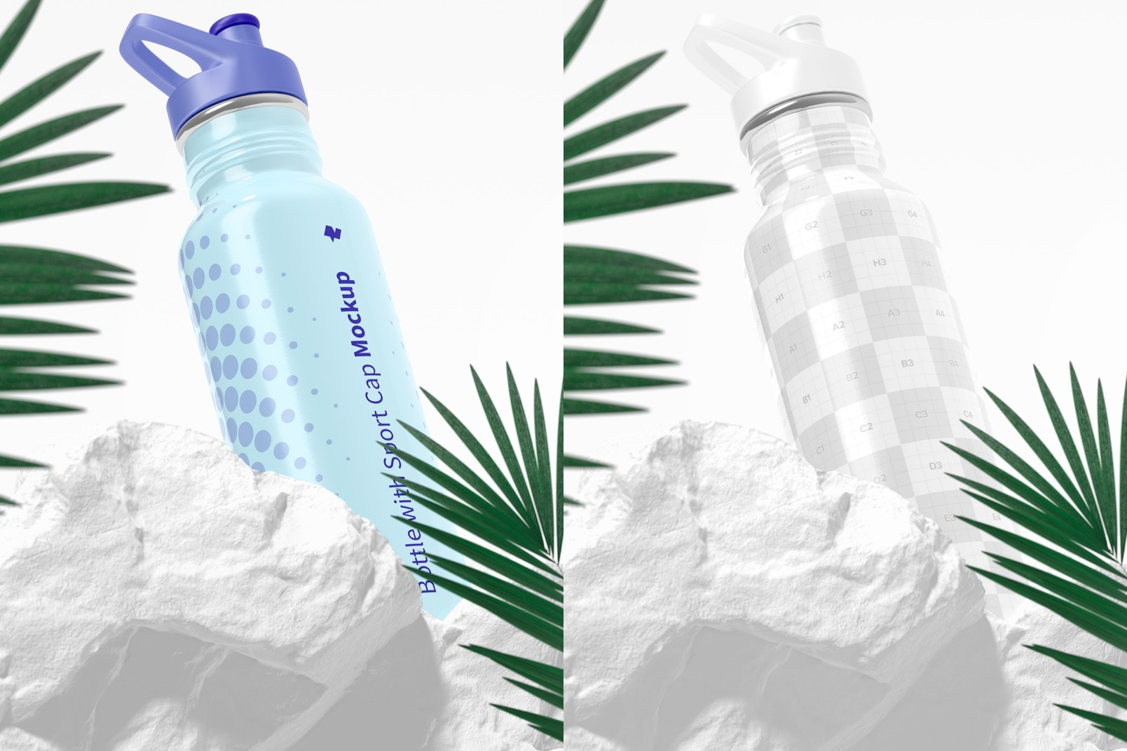 Bottle with Sport Cap Mockup