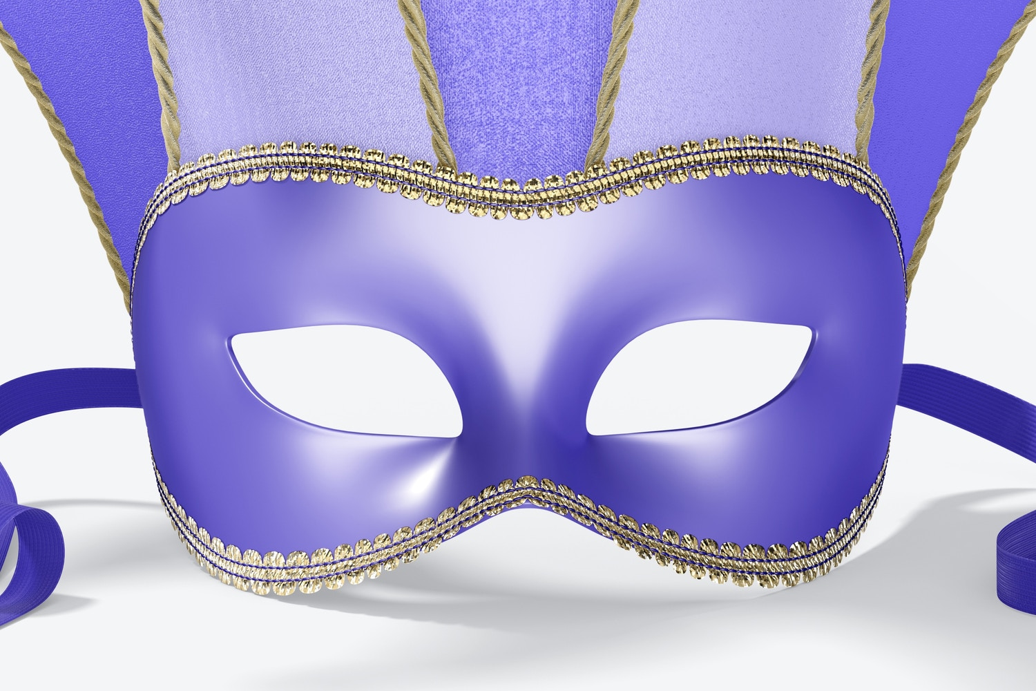 Jester Half-Face Mask Mockup, Front View