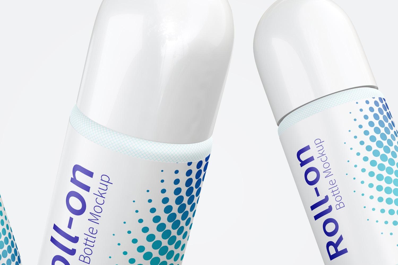 Roll-On Bottle Mockup, Floating