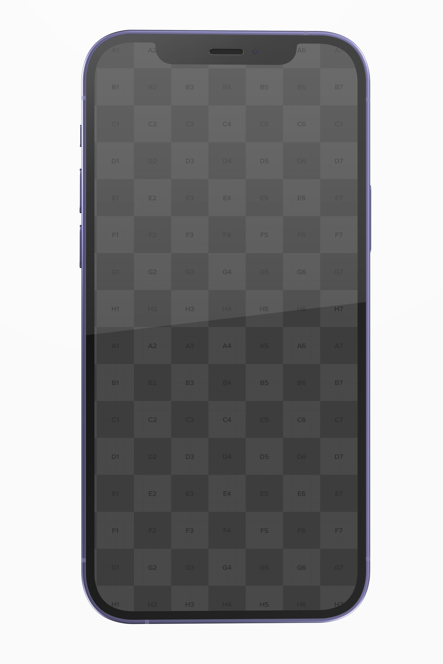 iPhone 12 Purple Version Mockup, Front View
