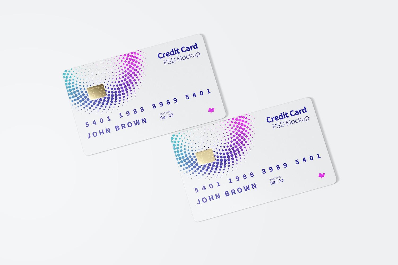 Maqueta de Tarjetas de Crédito, Vista Superior