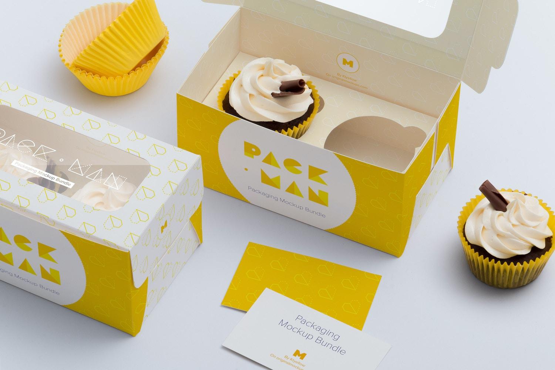 Two Cupcake Box Mockup 03 by Ktyellow  on Original Mockups