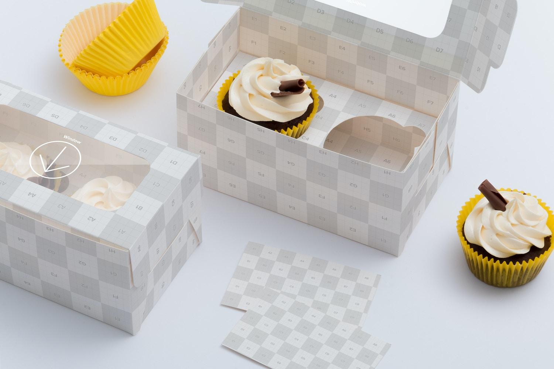 Maqueta para dos Cupcakes 03 por Ktyellow  en Original Mockups