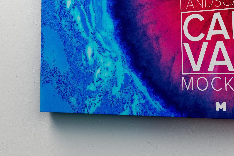 Landscape Canvas Frame Mockup