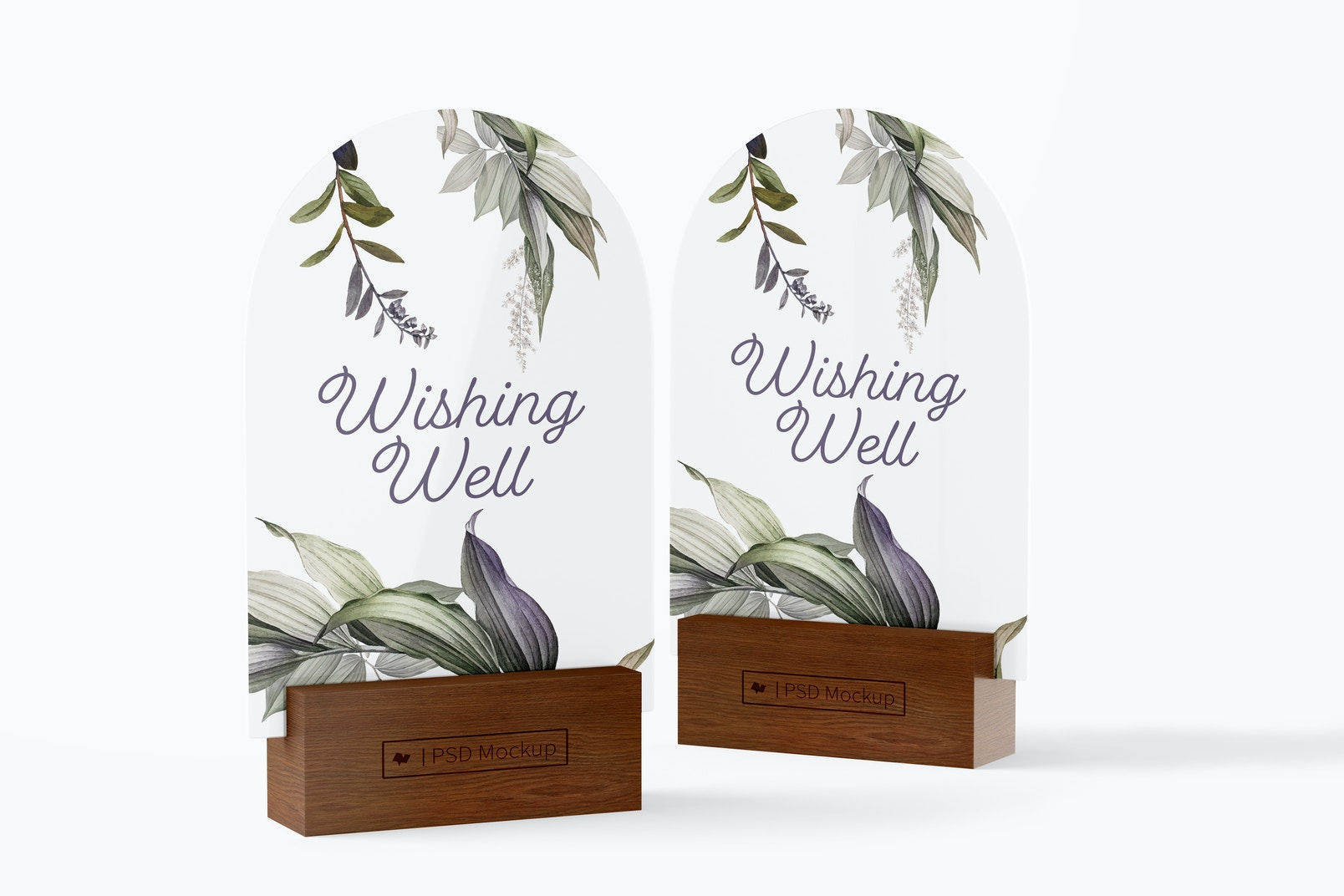 Acrylic Arch Table Signs Mockup