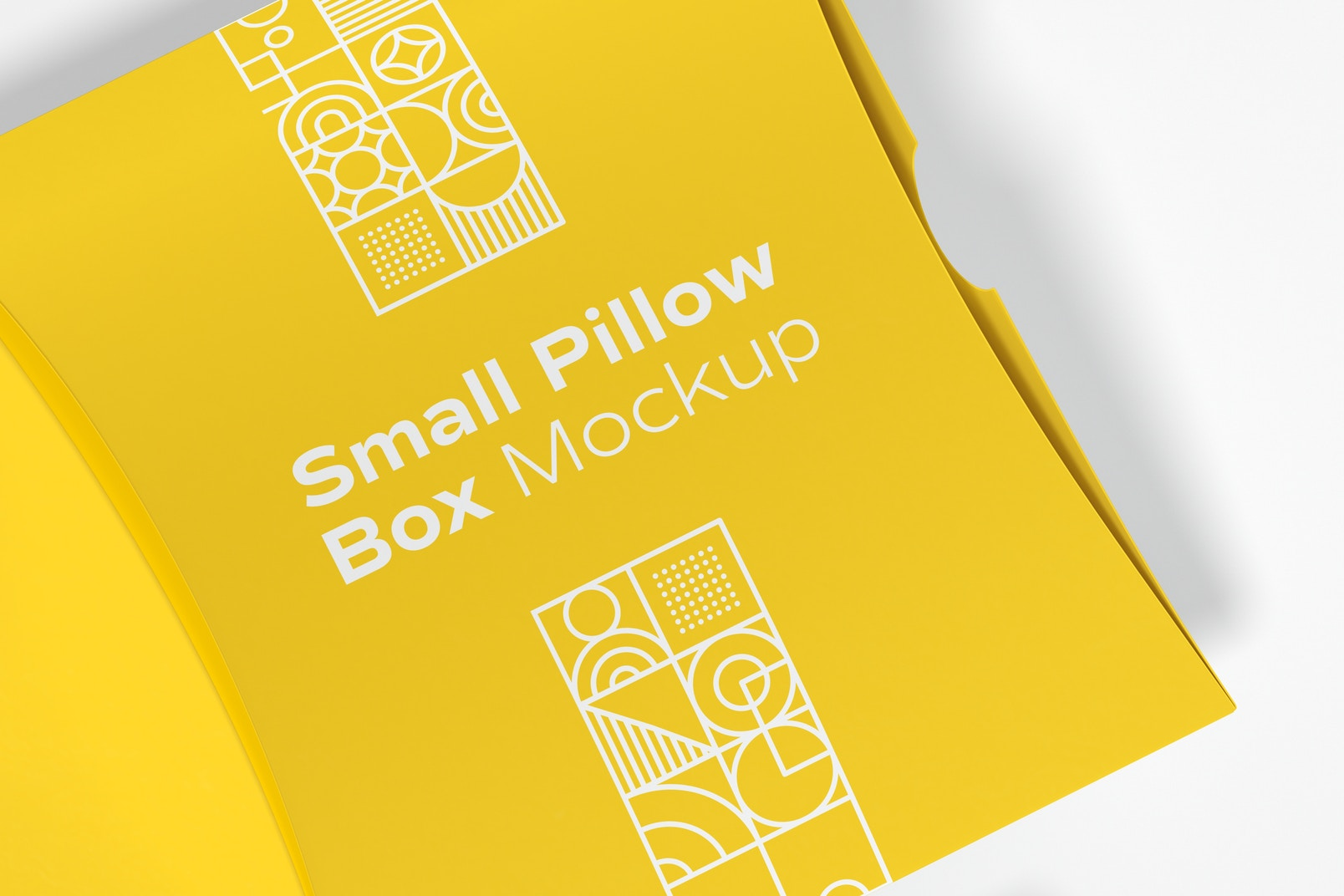 Small Pillow Boxes Mockup, Top View