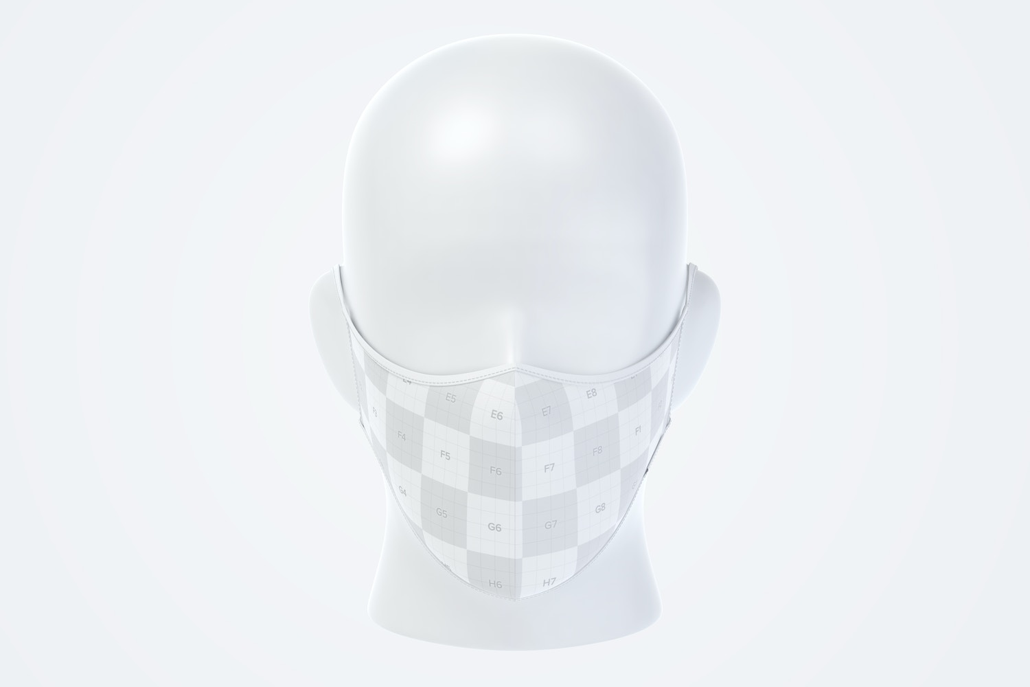 Face Mask Mockup, Front View