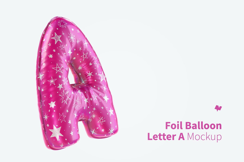 Letter A Foil Balloon Mockup