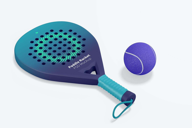 Paddle Racket Mockup