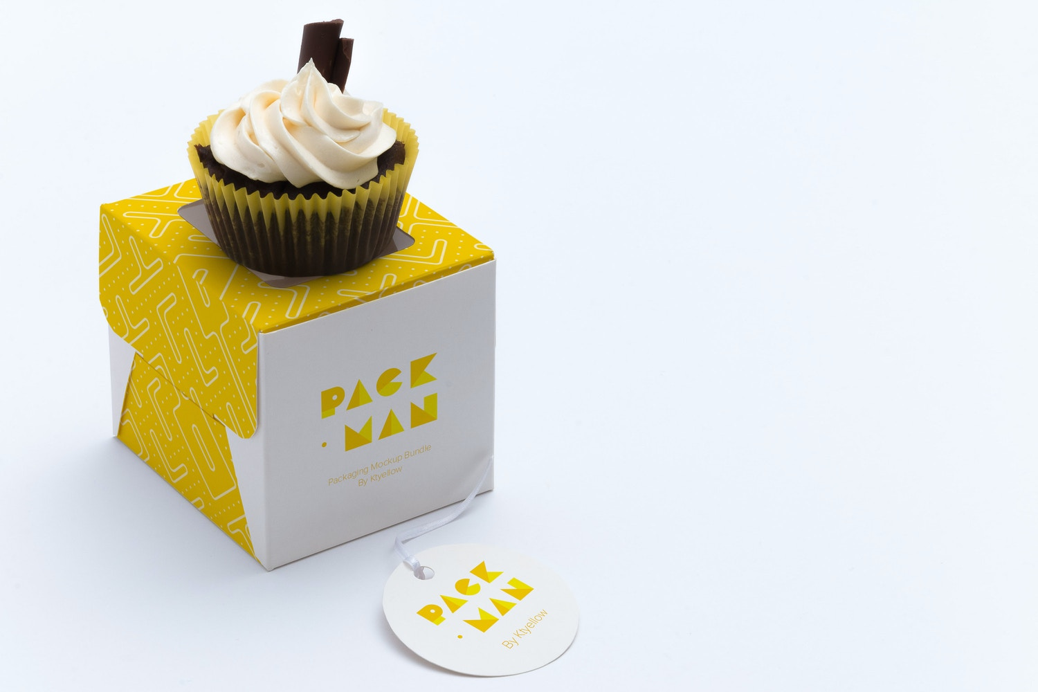 One Cupcake Box Mockup 03 by Ktyellow  on Original Mockups