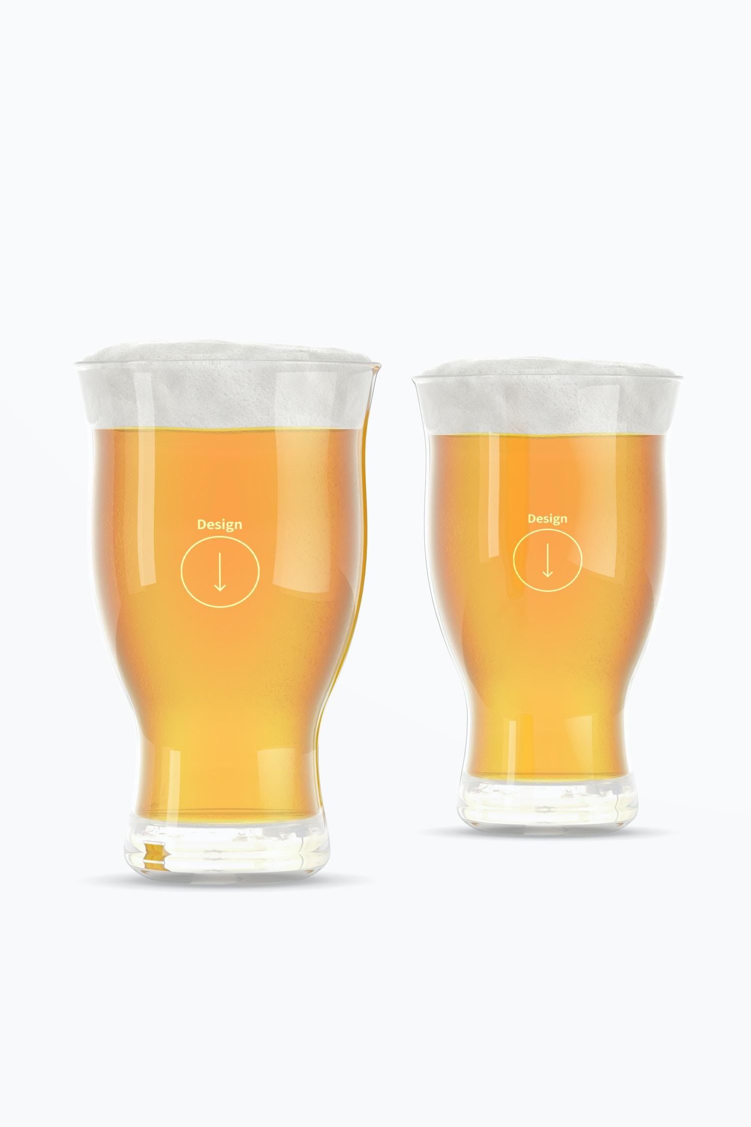 16 oz Pints Beer Glass Mockup