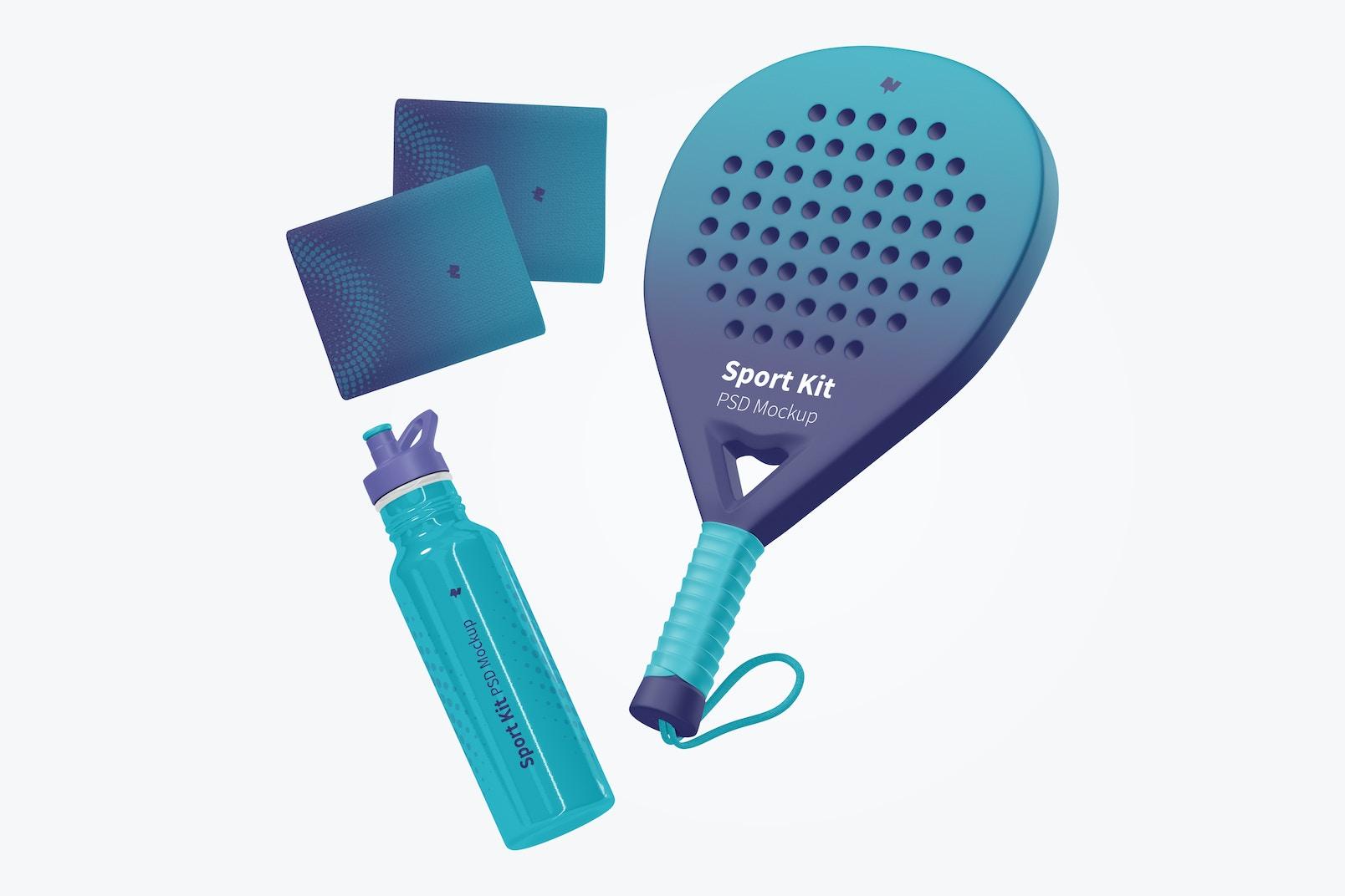 Sport Kit Mockup, Floating