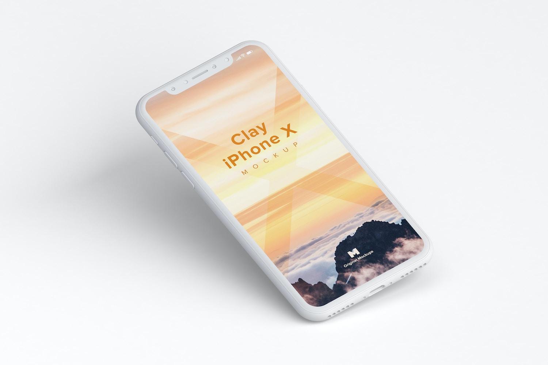 Clay iPhone X Mockup 01