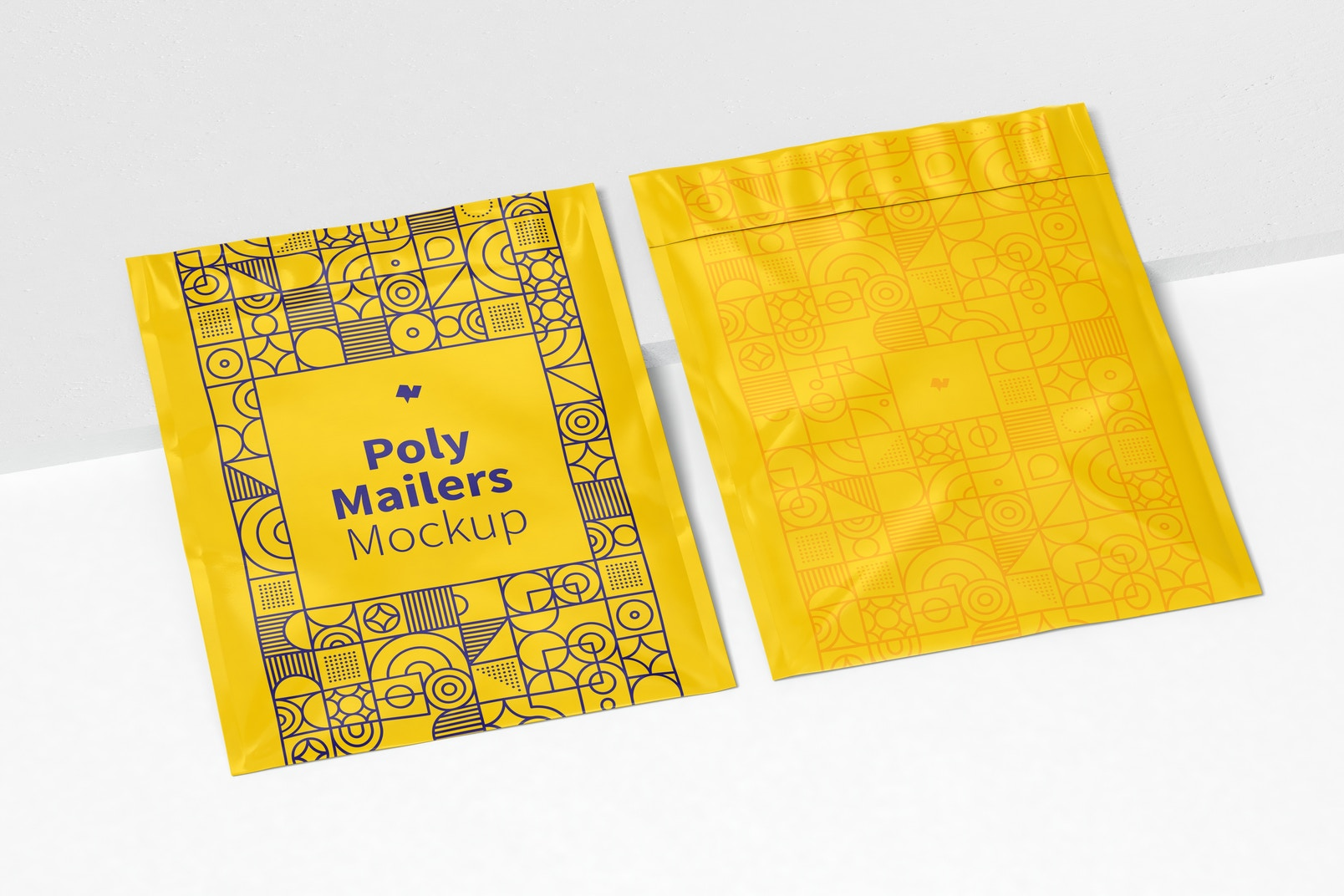 Poly Mailers Mockup, Perspective View
