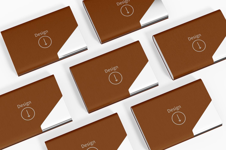 Business Card Holders Mockup