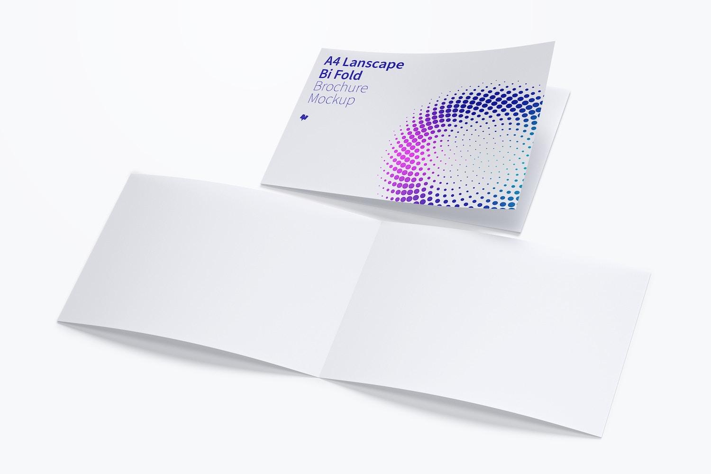 A4 Landscape Bi Fold Brochure Mockup 04 by Original Mockups on Original Mockups
