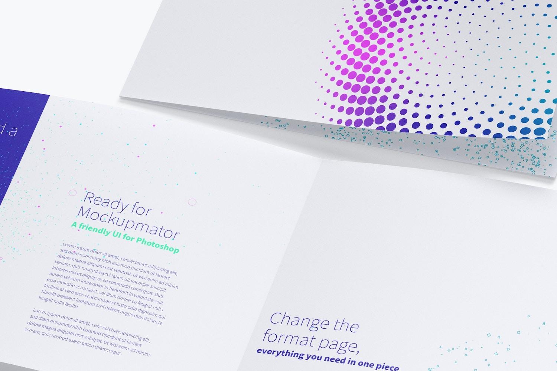 Maqueta lista para imprimir con alta resolución.