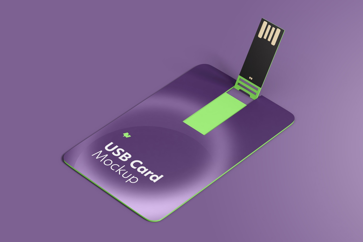 USB Cards Mockup, Top View