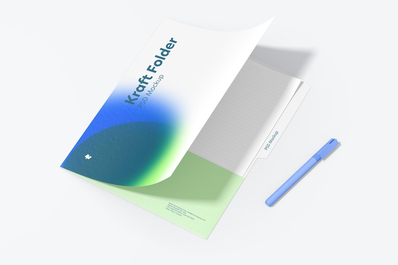 Maqueta de Folder de Kraft