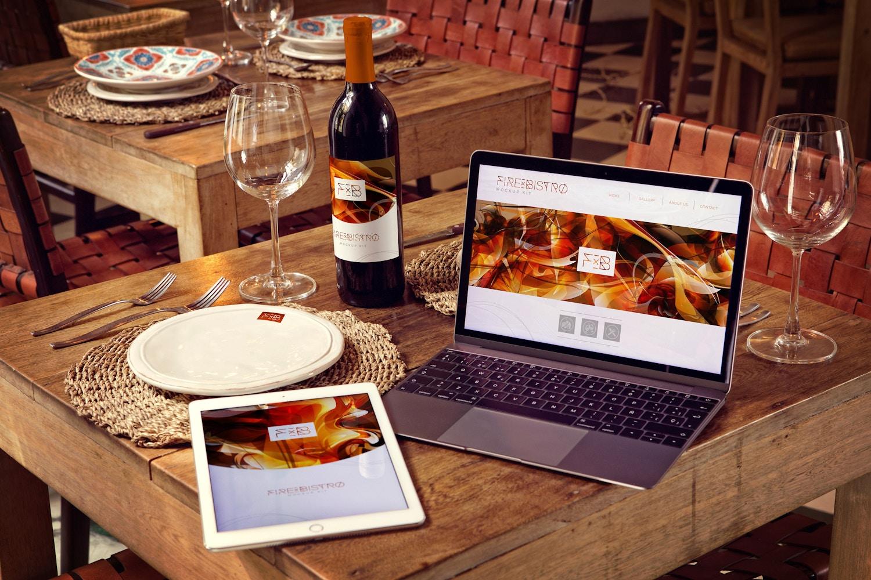 Wine Bottle, iPad Air 2, Macbook Mockup by 4to Pixel on Original Mockups