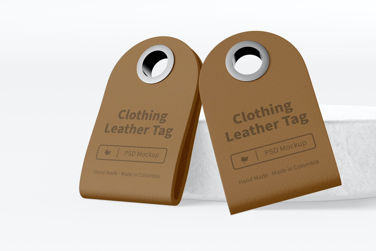 Clothing Leather Tags Mockup
