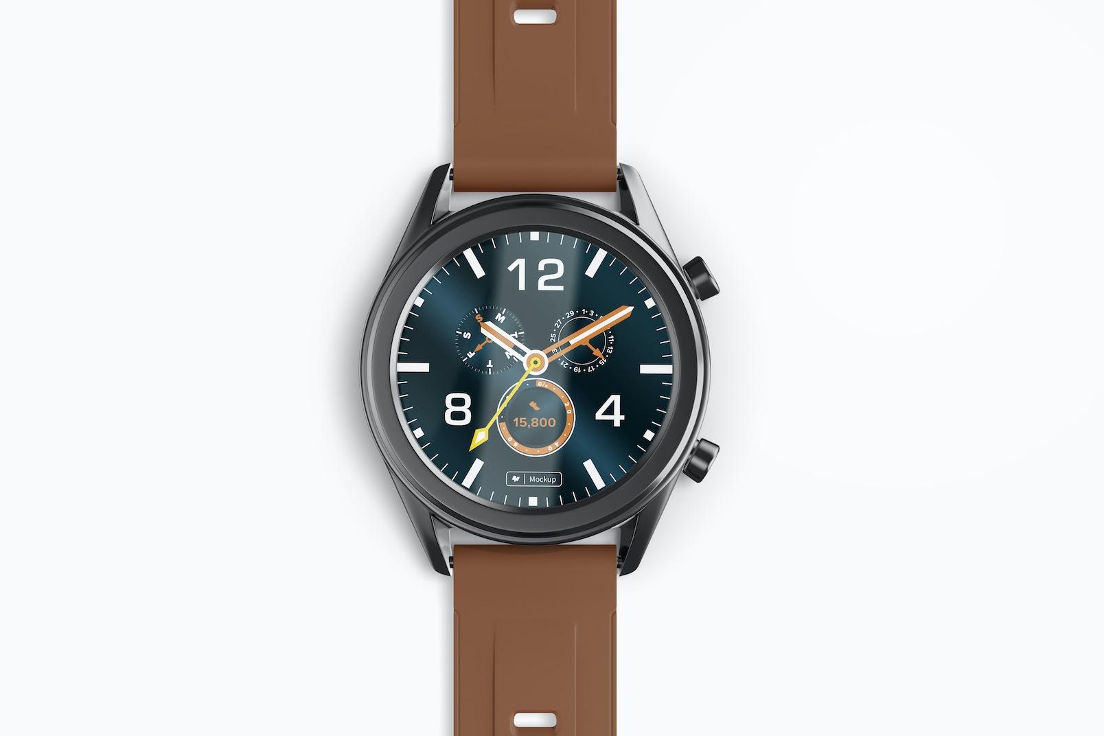 Huawei Watch GT Smartwatch Mockup, Close Up
