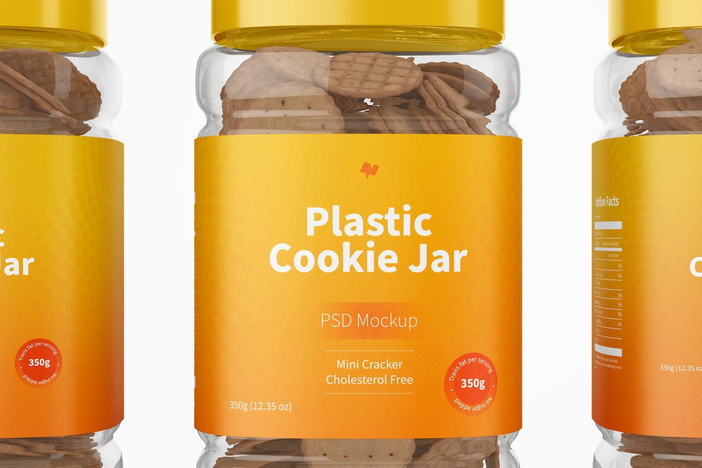 Plastic Cookie Jar Mockup, Close Up