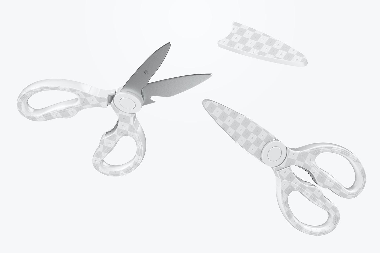 Kitchen Scissors Mockup, Floating
